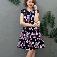 Đầm suông  hoa tiết