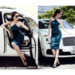 Đầm cổ yếm ôm body thiết kế tuyệt đẹp như Ngọc Trinh M3520