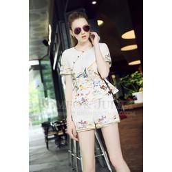 Hàng cao cấp - Set áo họa tiết + quần short KL40116