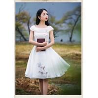 Art Fashion : Đầm công chúa thêu hoa lãng mạn
