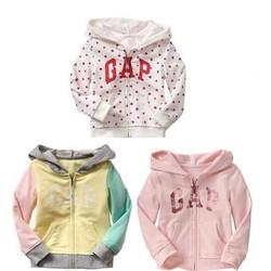 Áo khoác thun da cá Baby Gap cho bé gái 1-5T