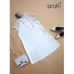SỈ - LẺ ĐẦM THIẾT KẾ: Đầm trắng cột nơ