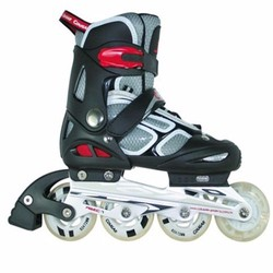 Giầy trượt patin có đèn màu ghi đen 835LSG