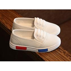 Giày slip-ons bé trai và bé gái X-255 trắng
