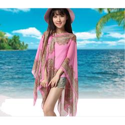 khăn thổ cẩm đi biển đính hạt kiểu mới cho hè quyến rũ