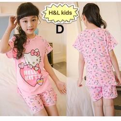Bộ thun bé gái Kitty hồng dễ thương HB370