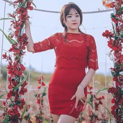 Đầm thiết kế cao cấp - Đầm ôm ren phối