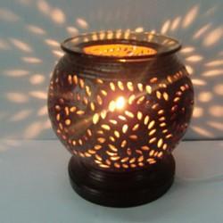 Đèn xông tinh dầu gốm điện - Tặng 10ml tinh dầu sả chanh