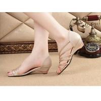 Giày sandal 6 quai ánh kim P2250
