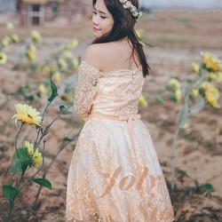 Đầm thiết kế cao cấp - Đầm ren sò vintage