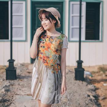 Đầm thiết kế cao cấp - Đầm suông họa tiết