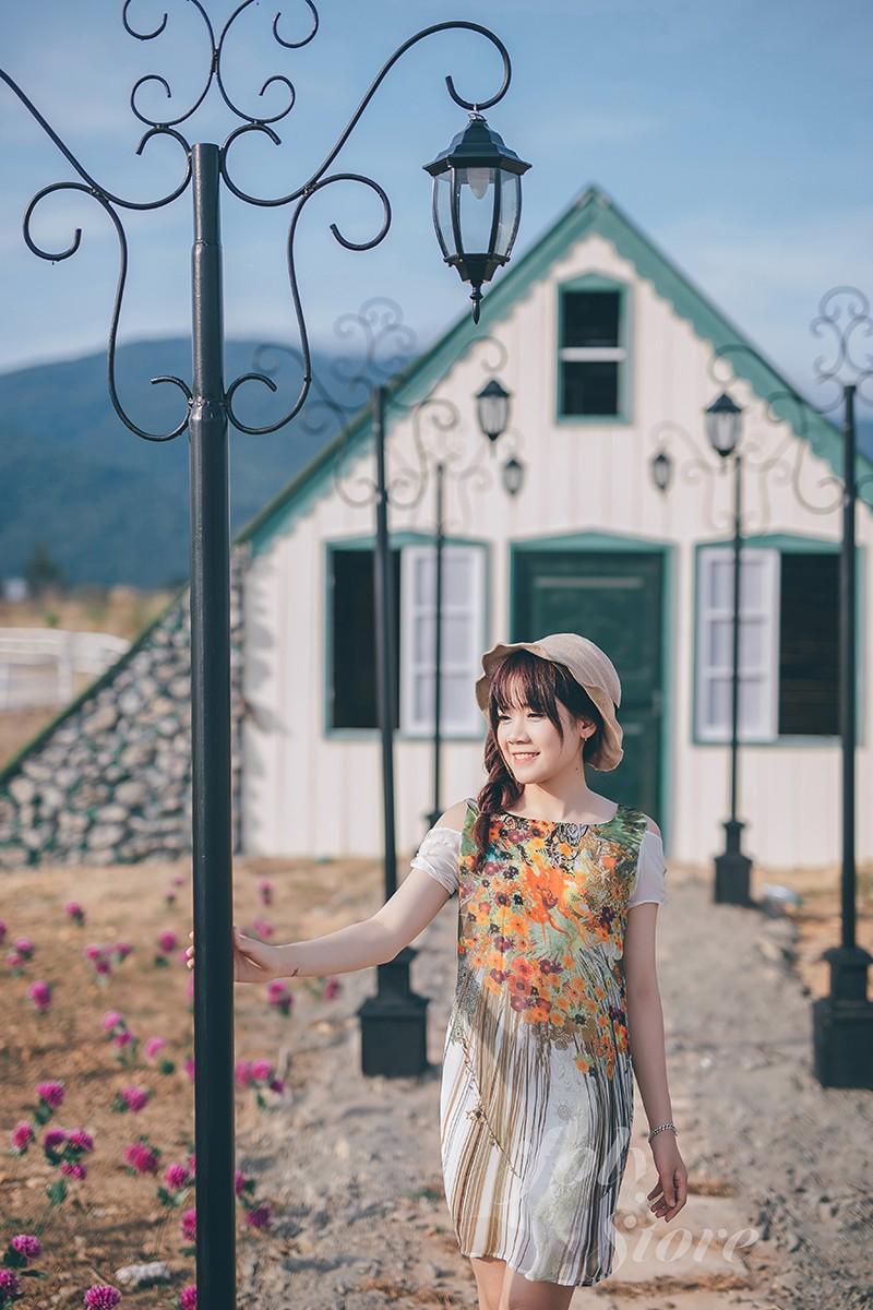 Đầm thiết kế cao cấp - Đầm suông họa tiết 3