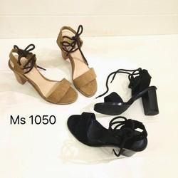 Sandals đế thô, chất liệu da lộn - 1050