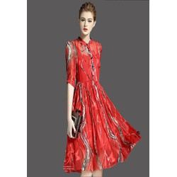 Đầm voan tay lỡ kèm váy hai dây - DV2542