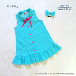 Đầm đính nơ chân váy xòe
