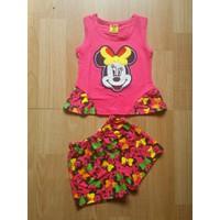 Đồ bộ bé gái Mickey - quần bông