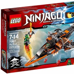 Lego Ninjago Sky Shark 70601 - Phi cơ chiến đấu cá mập