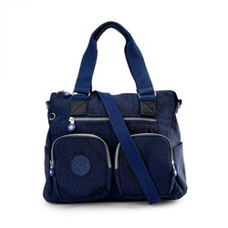 Túi xách hai hộp Kipling vải thường màu xanh đen