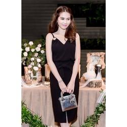 Bộ áo váy dễ thương thiết kế cột nơ như Ngọc Trinh M3911