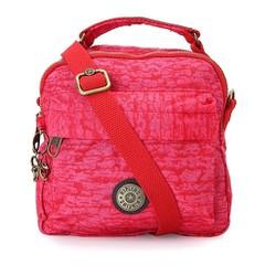 Túi đeo chéo Kipling ba ngăn loại xịn màu đỏ