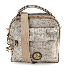 Túi đeo chéo Kipling ba ngăn loại xịn màu xám