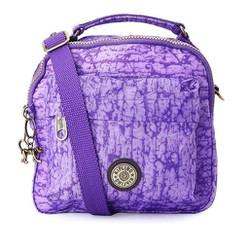 Túi đeo chéo Kipling ba ngăn loại xịn màu tím