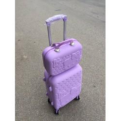 vali kéo nhựa dẻo- vali kitty + cốp