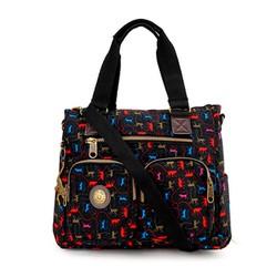 Túi xách hai hộp Kipling khỉ xịn màu đen