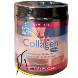 Bột Neocell Super Collagen Type 1  3 6600 mg của Mỹ
