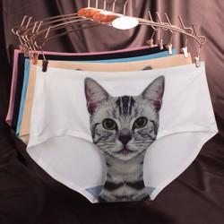 Quần Lót Nữ In Hình Mèo Siêu Cute