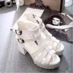 HÀNG LOẠI I - Giày cao gót 2 khóa sành điệu