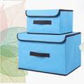 Combo 2 hộp vải đựng đồ đa năng khung cứng