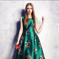 Đầm Xòe Vintage In Hoa Cao Cấp