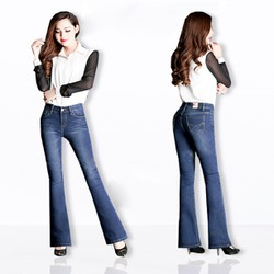 Quần jean ống loe lưng cao