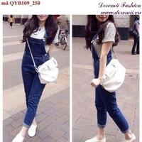 Quần yếm jean dài đơn giản đáng iu QYB109