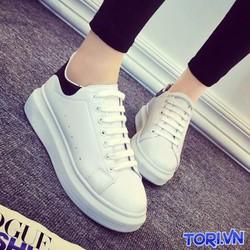 Giày Sneaker Nữ Da Tổng Hợp Đẹp T011