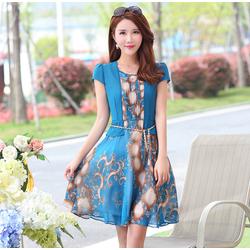 Hàng nhập: Đầm xòe cách điệu sang trọng quyến rũ DX083