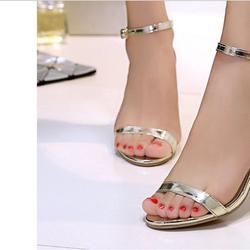Sandal nữ cao gót thời trang, kiểu dáng thoải mái, phong cách Âu My