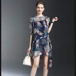 Đầm thời trang họa tiết chuồn chuồn – DV2570