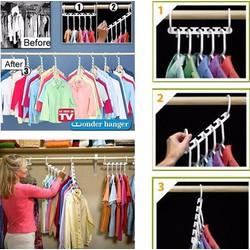 Bộ 8 móc treo quần áo đa năng NC136