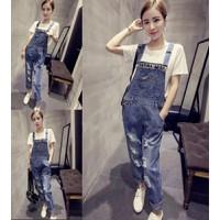 Quần jeans yếm dài rách Mã: QD872