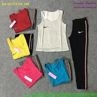 Bộ thể thao Nike áo 3 lỗ quần dài năng động bQATT310