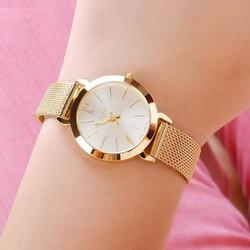 Đồng hồ nữ Dây Thép Không Rỉ JU970 vàng - Thương Hiệu