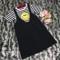 Váy Yếm + Áo thun mặt cười