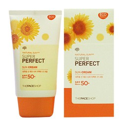 Kem chống nắng natural sun eco super perfect sun cream SPF50 PA
