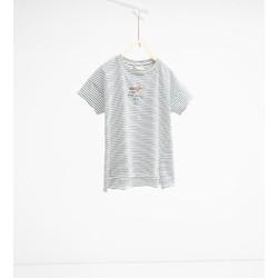 Áo phông kẻ ngang bé gái hãng Zara - hàng nhập Tây Ban Nha