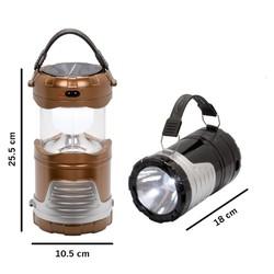 Đèn Bão Led 3 trong 1 loại lớn sử dụng năng lượng mặt trời và điện