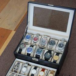 Hộp đựng đồng hồ loại 20 chiếc, bọc da