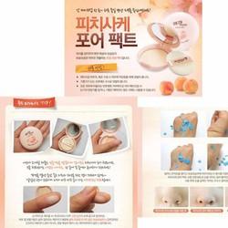 Phấn nén Đào Peach Sake Pore Pact