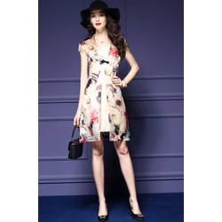 Đầm rời kèm váy cài khuy thêu cách điệu - DV2669